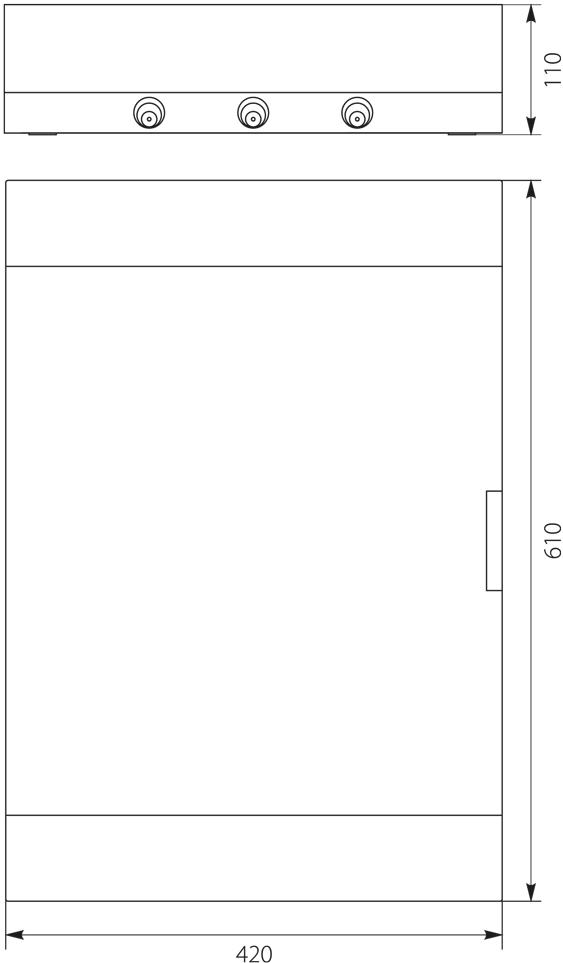 Rozdzielnica natynkowa SRn-54 (3x18) (N+PE)